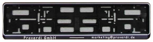 Kunststoff Kennzeichenhalter