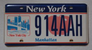 New York City Manhattan World Trade Center Nummernschild
