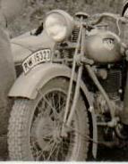 Reichwehr Krad mit Beiwagen und RW Kennzeichen - Schädelspalter
