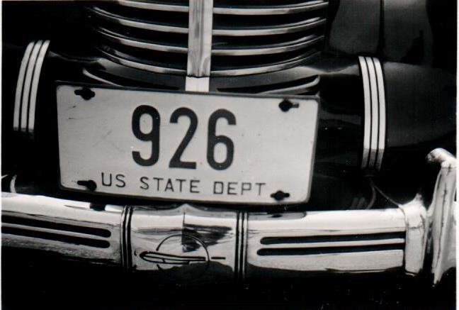 Nummernschild US State Department amerikanische Besatzungszone Deutschland