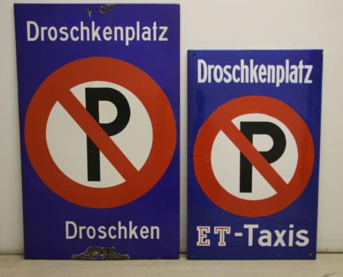 Parkplatzschilder für Kraftdroschken